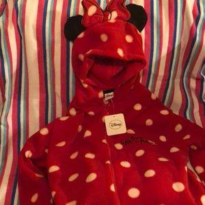 Minnie Mouse hooded onesie pajama